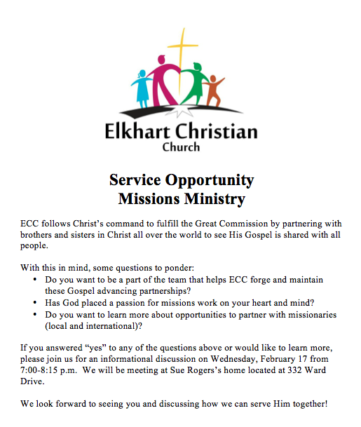 missions ministry in the church Mission & vision our mission as a people of god, we embody forgiveness in speech, action and relationships, and our ministry in reconciliation is foundational we are a church that does not view diversity as a barrier to unity.